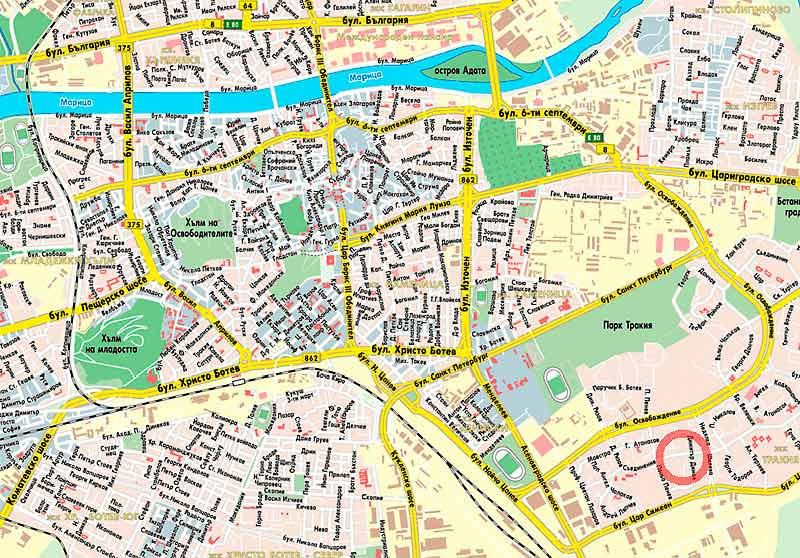 Map Of Plovdiv 3 Find Your Dentist Easily 3 Emergency